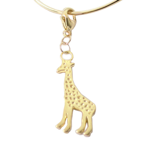 18K Gold Plated Sterling Silver Giraffe Charm