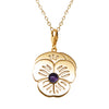 "18K Gold Plated Sterling Silver Amethyst  ""Purple Pansy"" Suffragette Charm Necklace - Michele Benjamin - Jewelry Design"