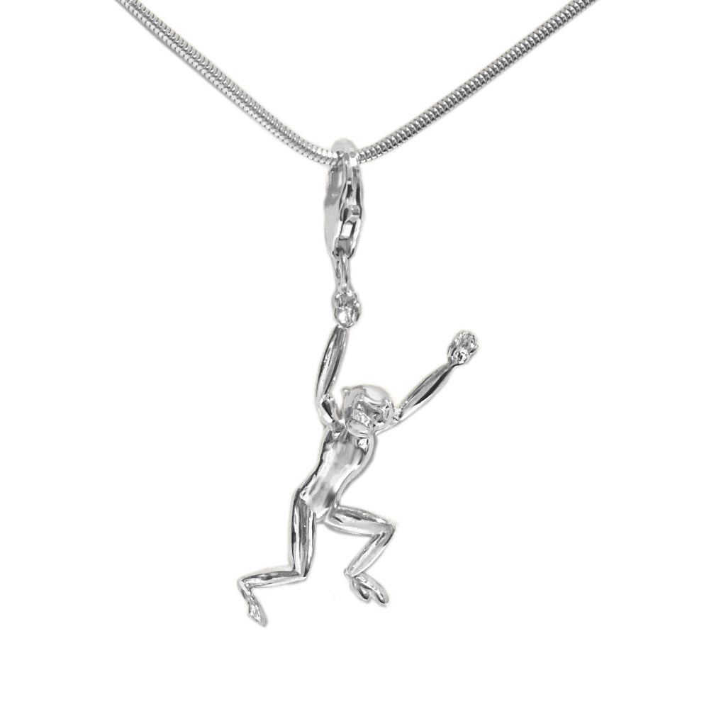 Sterling Silver Gibbon 3D Charm Necklace - Michele Benjamin - Jewelry Design