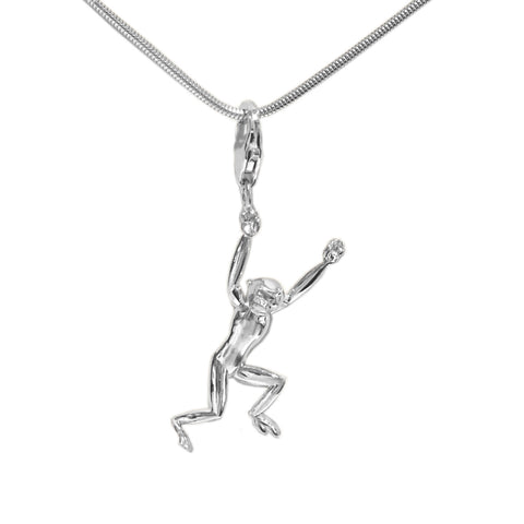 Sterling Silver Gibbon 3D Charm Necklace