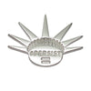 Sterling Silver Liberty Crown PERSIST Activist Feminist Lapel Pin Brooch - Michele Benjamin - Jewelry Design