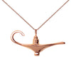 18K Rose Gold Plated Aladdin Magic Lamp Inspired Necklace - Michele Benjamin - Jewelry Design