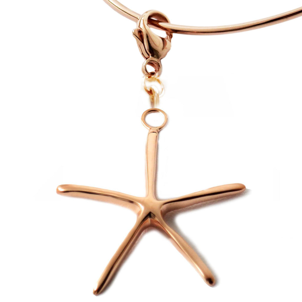 18K Rose Gold Vermeil Sterling Silver Starfish Charm Necklace 18L - Michele Benjamin - Jewelry Design