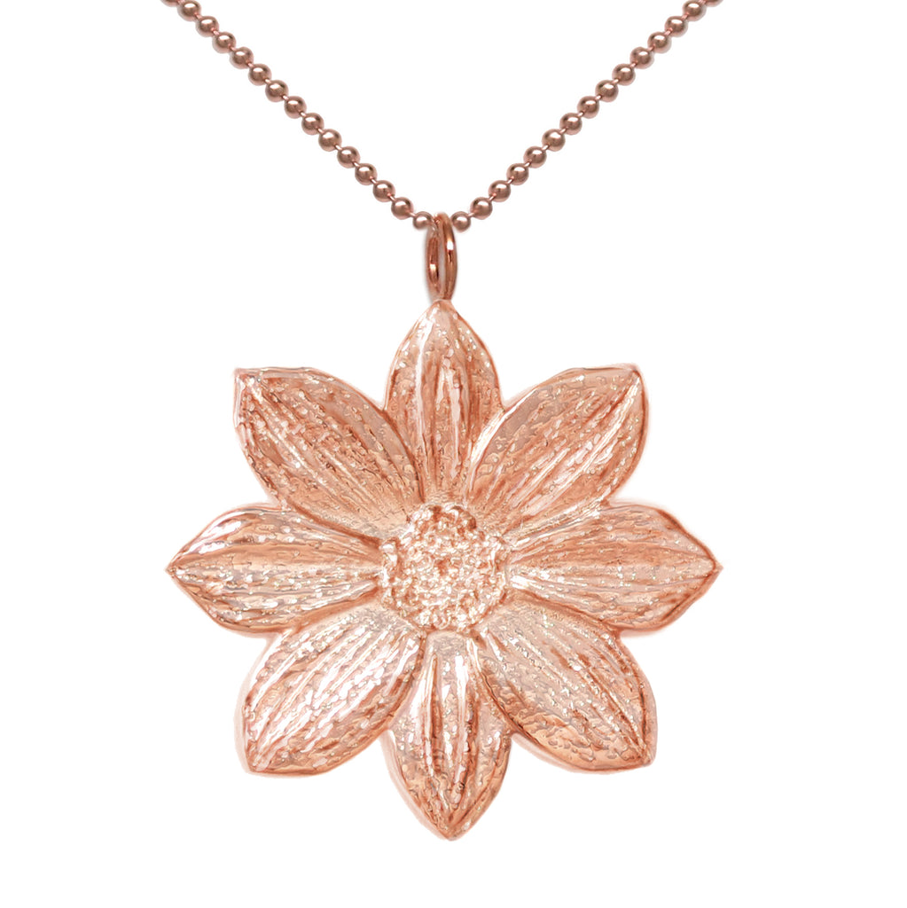 18K Rose Gold Plated Mystic Illusion Dahlia Statement Necklace - Michele Benjamin - Jewelry Design