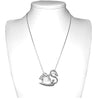 Sterling Silver Swan Pendant Necklace XL 45mm Wide - Michele Benjamin - Jewelry Design