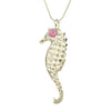 Sterling Silver Pink Tourmaline Seahorse Necklace [Natural] - Michele Benjamin - Jewelry Design
