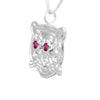 Sterling Silver Ruby Leopard Pendant Necklace - Michele Benjamin - Jewelry Design
