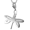 Rhodium Plated Dragonfly Charm Necklaces 18 L