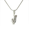 Sterling Silver Squirrel 3D Charm Necklace - Dainty Size 1 1/4 in. H - Michele Benjamin - Jewelry Design