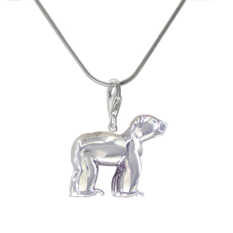 Sterling Silver Sun Bear Charm Necklace