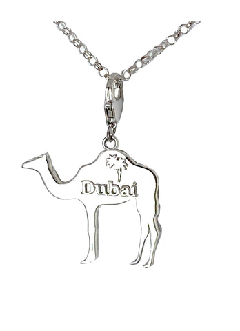 Small Dubai Camel with Palm Tree Charm Necklace -Right Side