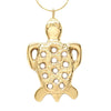 18K Gold Plated Bronze Tortoise Pendant Necklace 18 Inch L - Michele Benjamin - Jewelry Design