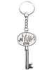 """Key to the City""  Souvenir Keychain Rhodium Plated Brass 5 inch H. - Michele Benjamin - Jewelry Design"