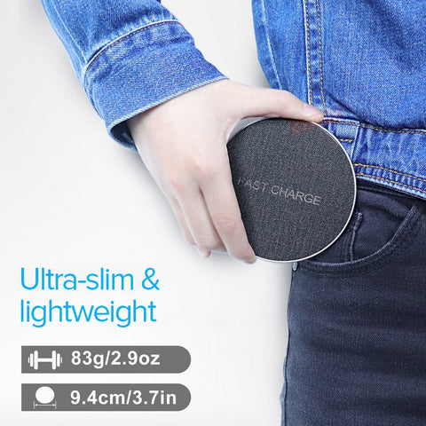 Fast Wireless Charger For iPhone & Samsung Smart Phones