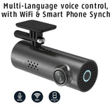 Smart HD Dash Cam with Voice Control, video recorder and photo camera