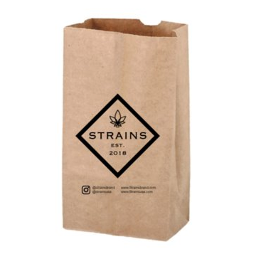 SOS Kraft Paper Bags with 1 Color Imprint – 1 Side