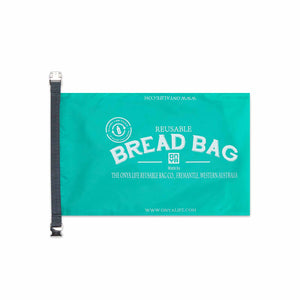 Onya Reusable Bread Bag - 41cm long x 25.5cm Aqua