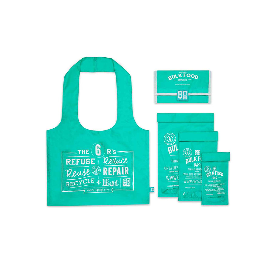 Onya Reusable Bulk Food Bag Set - Aqua