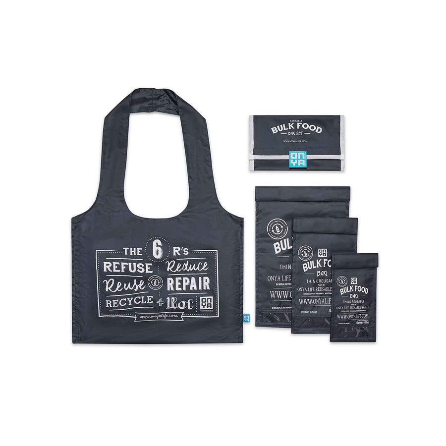 Onya Reusable Bulk Food Bag Set - Charcoal