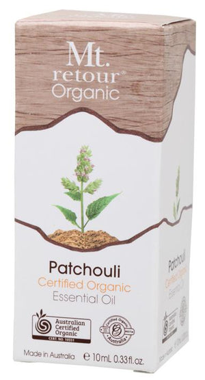 Mt Retour Patchouli Certified Organic Essential Oil 10mL