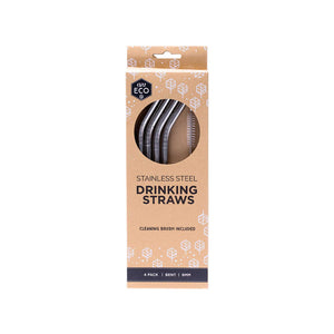 Ever Eco Stainless Steel Straws Bent - 4 Pack
