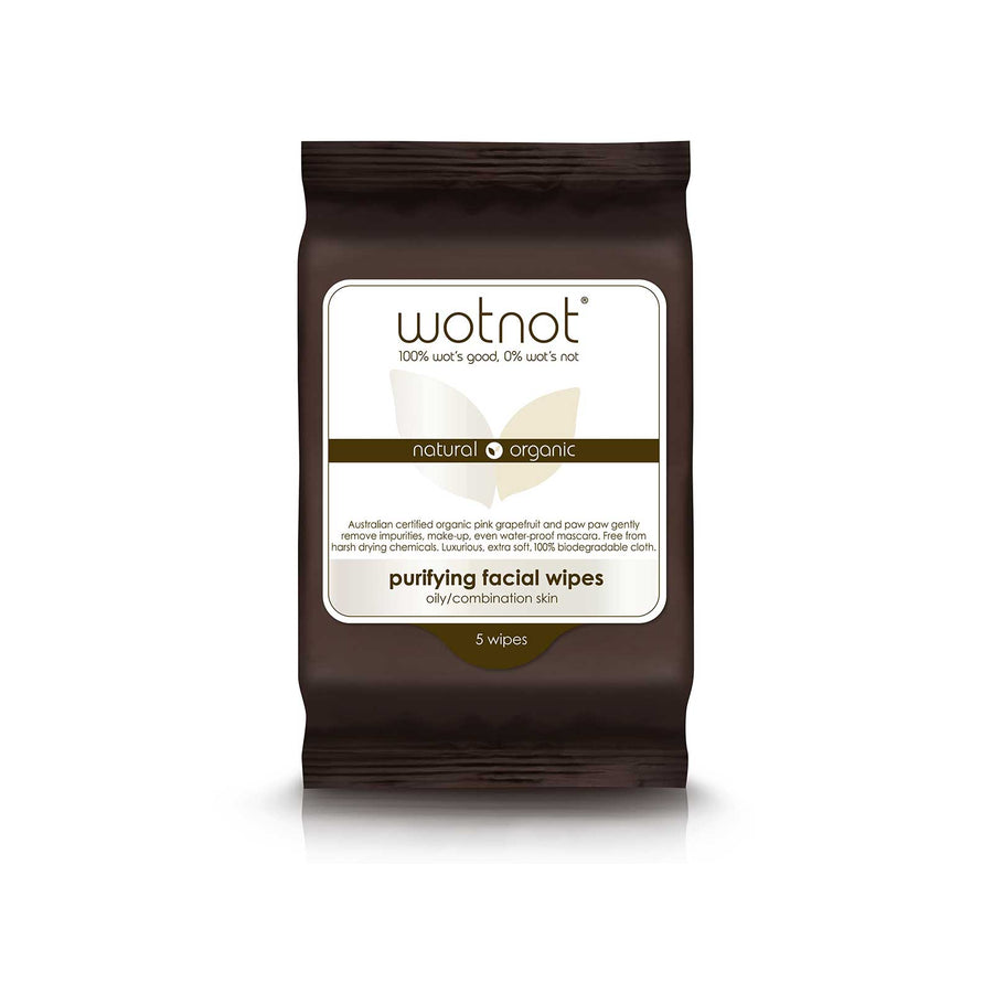 Wotnot Face Wipes Purifying - 5 sheets
