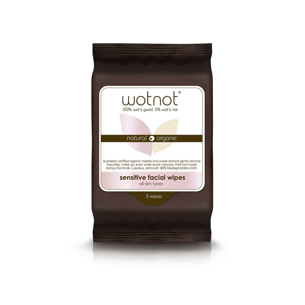 Wotnot Face Wipes Sensitive - 5 sheets