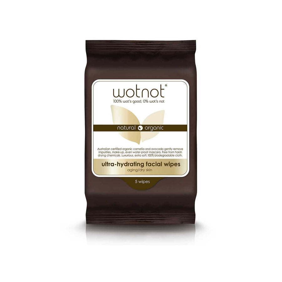 Wotnot Face Wipes Ultra Hydrating - 5 sheets