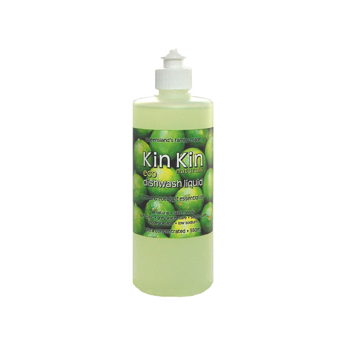 Kin Kin Naturals Dishwash Liquid Lime - 550ml