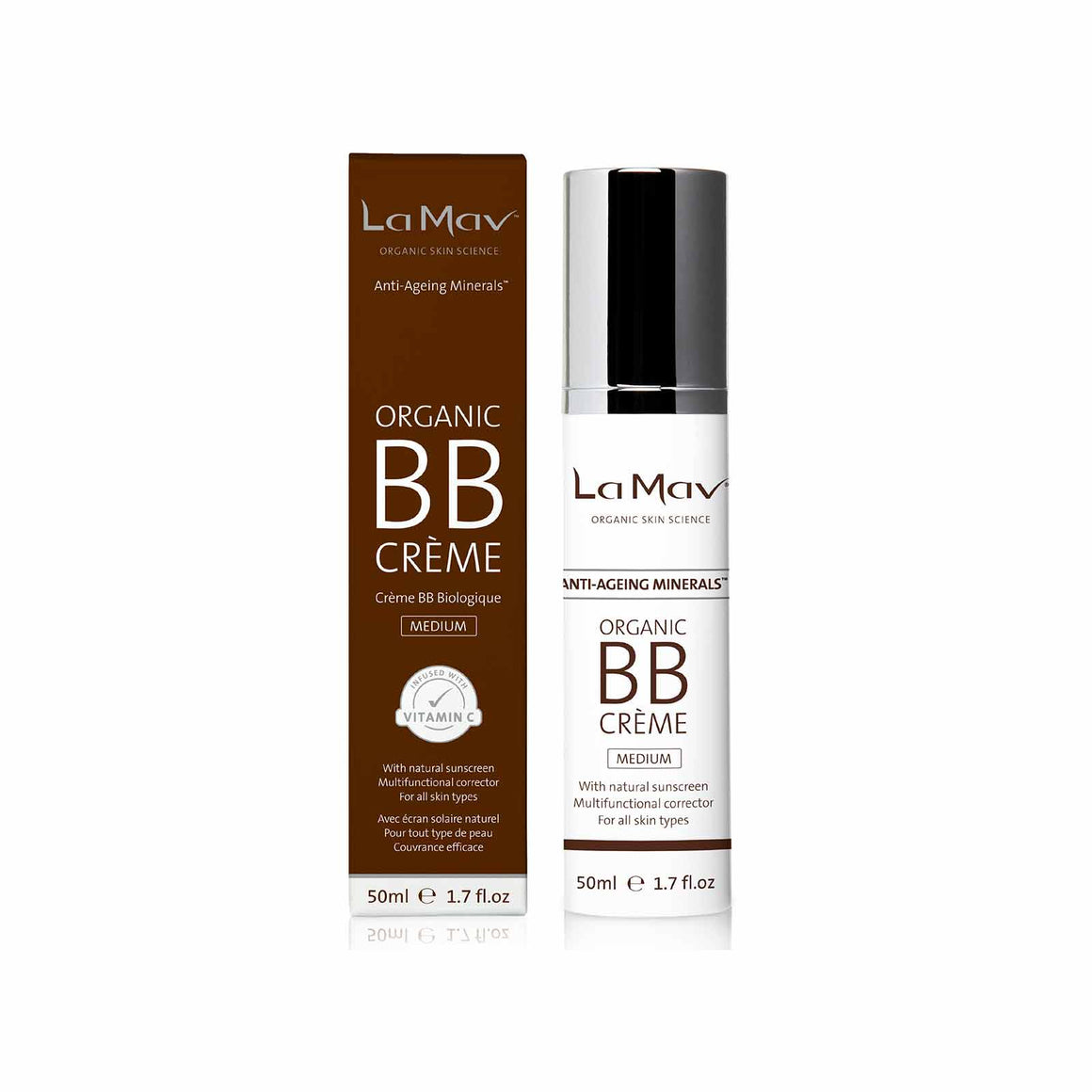 La Mav Certified Organic BB Crème Medium - 50ml
