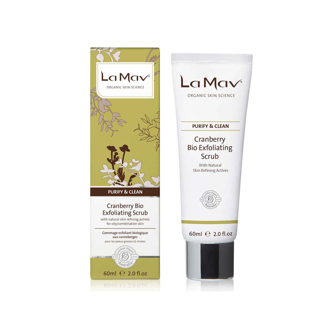 La Mav Cranberry Bio Exfoliating Scrub - 60ml