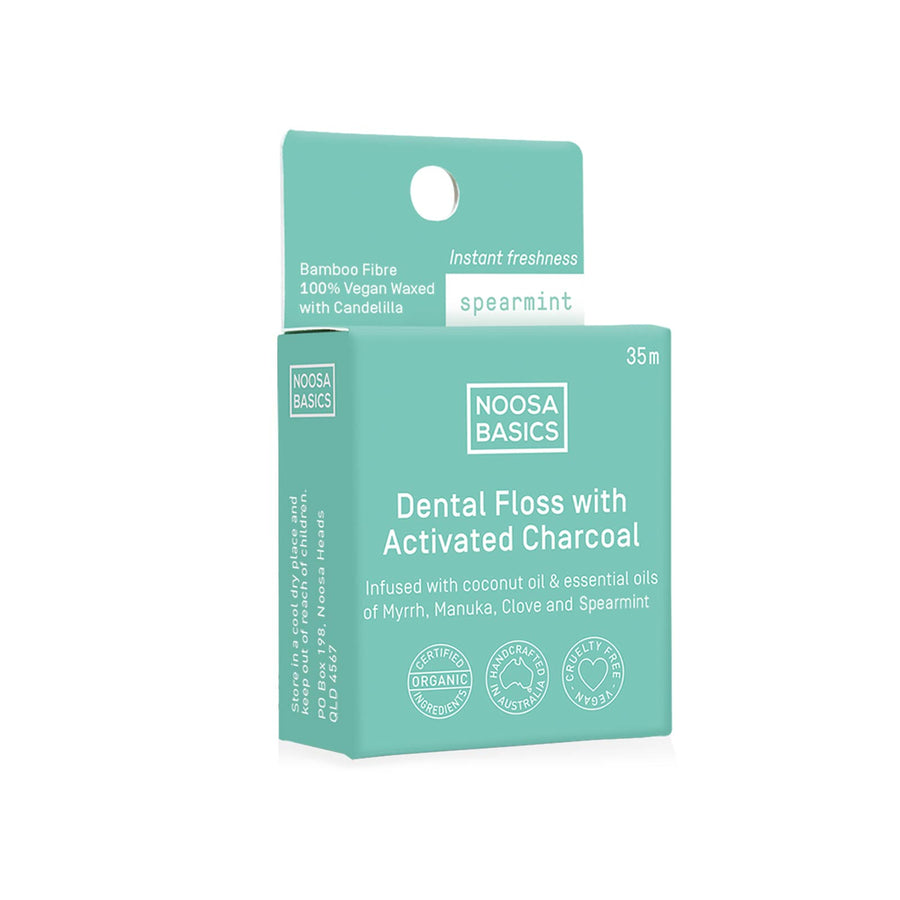 Noosa Basics Dental Floss Active Charcoal Spearmint- 35m