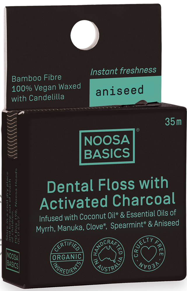 Noosa Basics Dental Floss Active Charcoal Aniseed- 35m