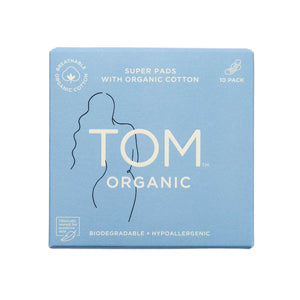 TOM Organic Super Ultra Thin Pads - 10pk