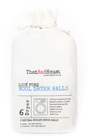 That Red House Wool Dryer Balls - 6 Balls