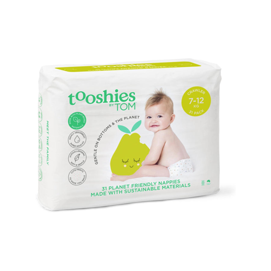 Tooshies Crawler Nappies 7-12kg - 31pk
