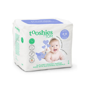 Tooshies Infant Nappies 4-8kg - 34pk