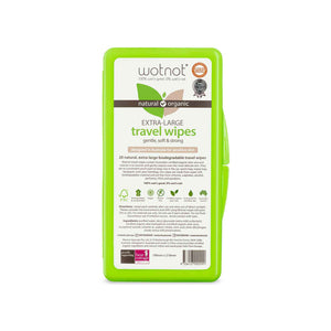 Wotnot Natural Travel Wipes - Case 20 sheets