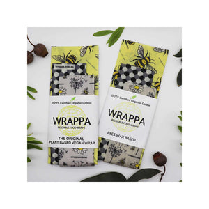Wrappa 3 Pack Bees Wax Wraps