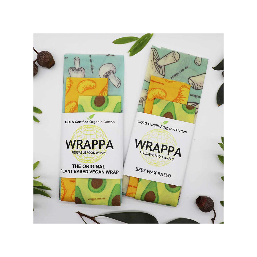 Wrappa 3 Pack Plant Based Wax Wraps