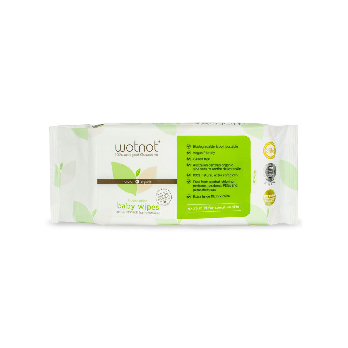 Wotnot Biodegradable Baby Wipes - 70pk