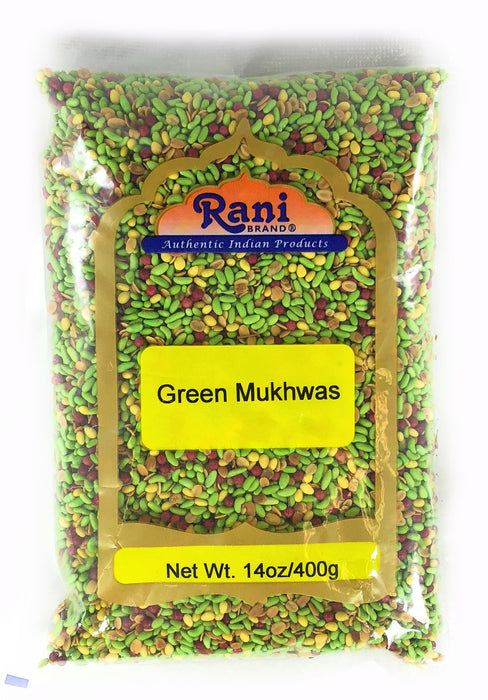 Rani Green Mukhwas (Special Digestive Treat) 14oz (400g) ~ Vegan | Indian Candy Mouth Freshener
