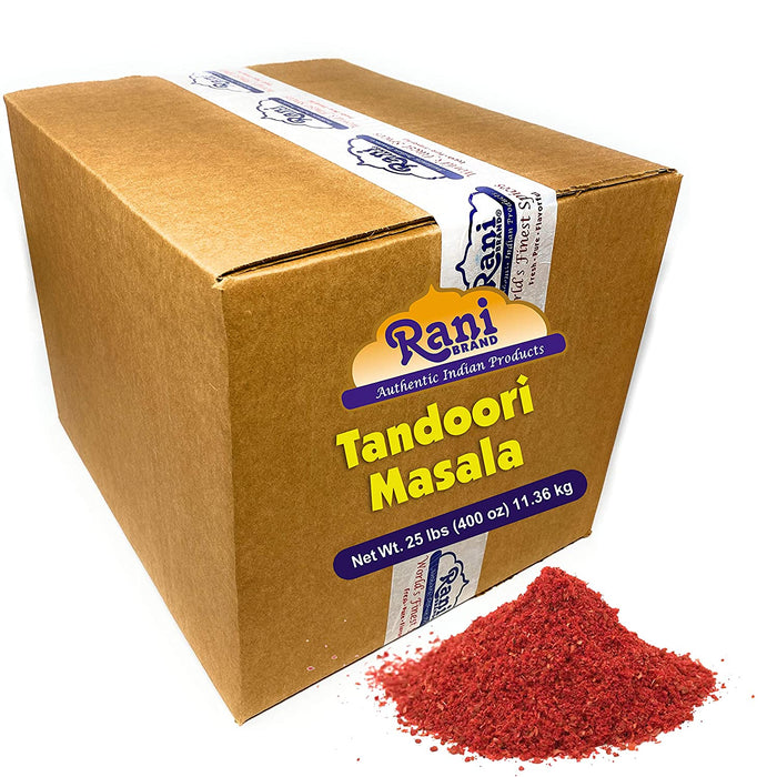 Rani Tandoori Masala (Natural, No Colors Added) Indian 11-Spice Blend, 25 Pound (400 Ounce) 11.36kg ~ Bulk Box ~ Salt Free | Vegan | Gluten Free Ingredients | NON-GMO