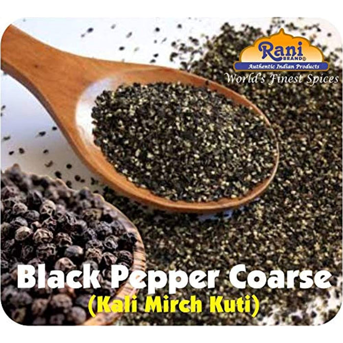 Rani Black Pepper Coarse Ground 28 Mesh (Table Grind), Premium Indian 7oz (200g) ~ Gluten Free, Non-GMO, Natural