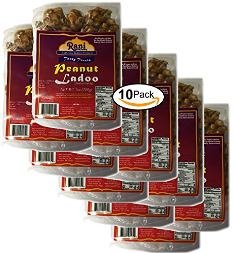 Rani Peanut Ladoo (Round Peanut Brittle Candy) 200g {2 Sizes Available}