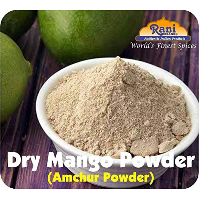 Rani Amchur (Mango) Ground Powder Spice 3oz (85g) ~ All Natural, Indian Origin | No Color | Gluten Friendly | Vegan | NON-GMO | No Salt or fillers