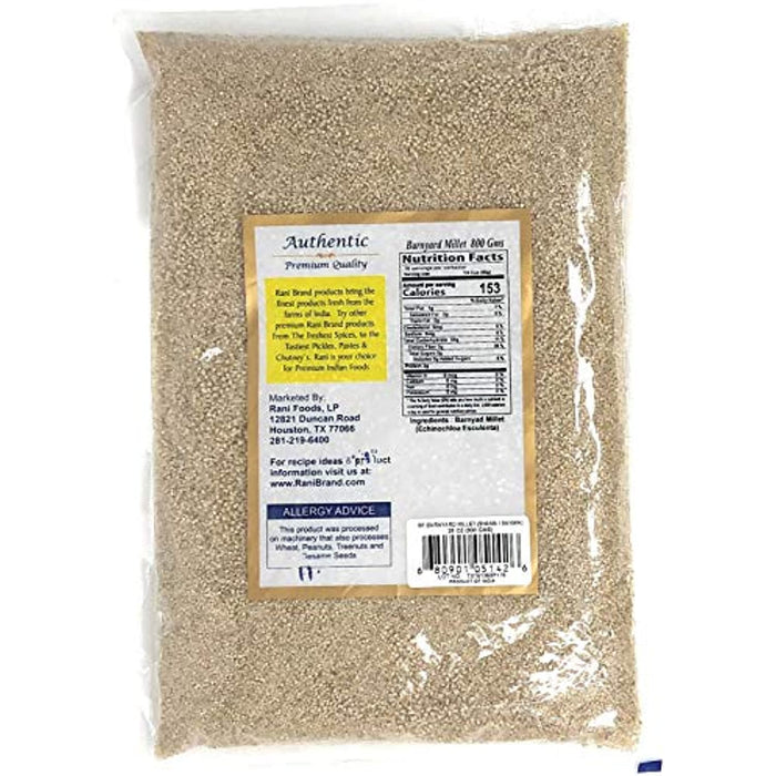 Rani Barnyard Millet (Echinochloa Esculenta Frumantacea) Whole Ancient Grain Seeds 400g (14oz) ~ All Natural | Gluten Free Ingredients | NON-GMO | Vegan | Indian Origin | Shama / Sanwa