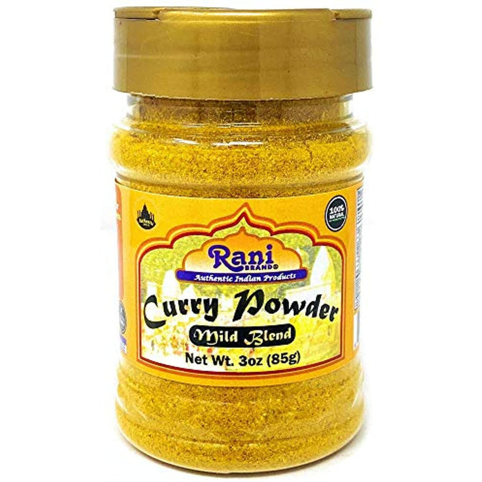 Rani Curry Powder Mild Natural 10-Spice Blend 85g (3oz) ~ Salt Free | Vegan | No Colors | Gluten Friendly | NON-GMO | NO Chili or Peppers