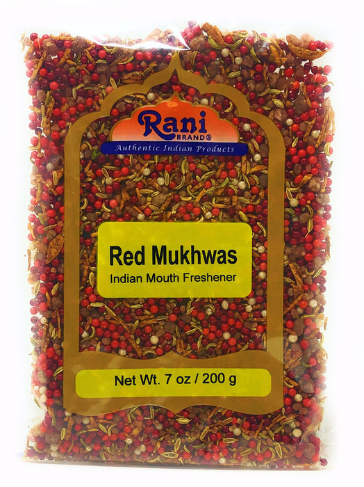 Rani Red Mukhwas (Special Digestive Treat) 7oz (200g) ~ Vegan | Indian Candy Mouth Freshener