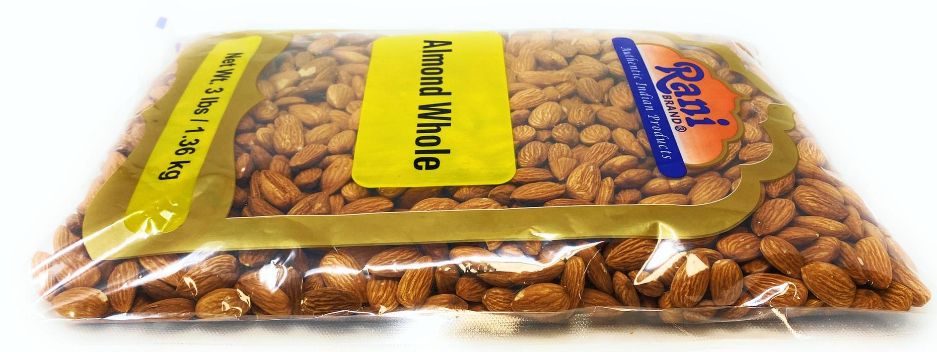 Rani Almonds, Raw Whole With Skin (uncooked, unsalted) 56oz (3lb) ~ All Natural | Vegan | Gluten Free Ingredients | Fresh Product of USA ~ California Shelled Almonds